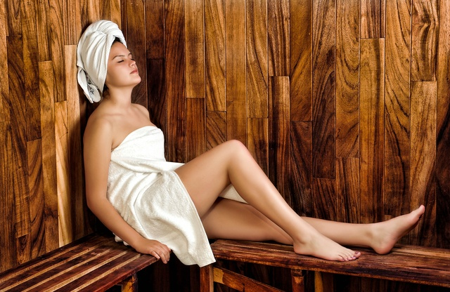 women, sauna, spa - monte mare