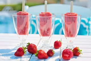 popsicles, strawberry popsicles, red - monte mare
